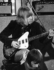 Brian Jones in the studio, rare photo courtesy of Billie Piper
